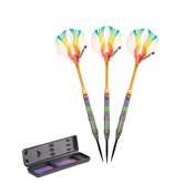 Elkadart Rainbow 90% Tungsten Steel Tip Darts Multi Color Titanium Coating 23 Grams