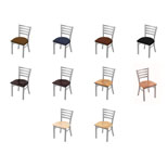 400 Contessa Chair with Anodized Nickel Finish