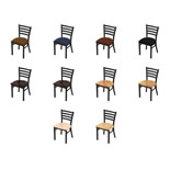 400 Contessa Chair with Black Wrinkle Finish