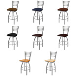 410 Swivel Stool with Stainless Finish