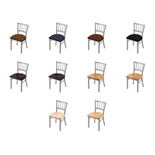 610 Contessa Chair with Anodized Nickel Finish