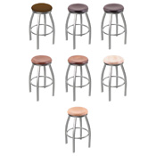 802 Swivel Stool with Stainless Finish