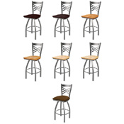 820 Swivel Stool with Stainless Finish