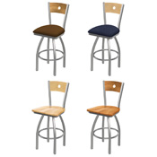 830 Swivel Stool with Stainless Finish
