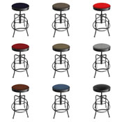 910 Industrial-Adjustable Stool with Clear Coat Finish