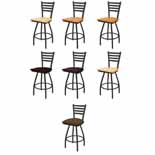 XL 410 Swivel Stool with Black Wrinkle Finish