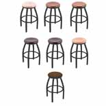 XL 802 Swivel Stool with Black Wrinkle Finish
