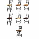 XL 810 Swivel Stool with Black Wrinkle Finish