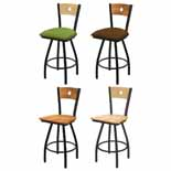 XL 830 Swivel Stool with Black Wrinkle Finish