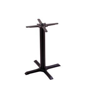 """211 Black Cast Iron Table Height Base with 22"""" x 22"""" X-Style Foot by Holland Bar Stool Company"""