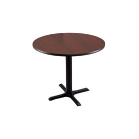 """30"""" 211 Black Table with 22"""" x 22"""" Foot and 30"""" Diameter Top by Holland Bar Stool"""