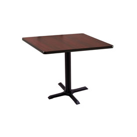 "30"" 211 Black Table with 22"" x 22"" Foot and 30"" x 30"" Square Top by Holland Bar Stool"