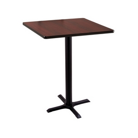 """36"""" Tall Counter Height 211 Table with a Black Wrinkle Finish, 22""""x22"""" X-Style Base and a Square Reversable (Black or Dark Cherry) Top"""