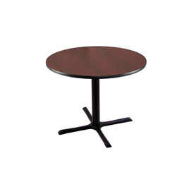 """30"""" 211 Black Table with 30"""" x 30"""" Foot and 30"""" Diameter Top by Holland Bar Stool"""