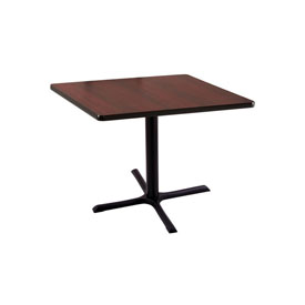"""30"""" 211 Black Table with 30"""" x 30"""" Foot and 30"""" x 30"""" Square Top by Holland Bar Stool"""