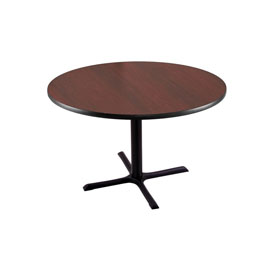 """30"""" 211 Black Table with 30"""" x 30"""" Foot and 36"""" Diameter Top by Holland Bar Stool"""