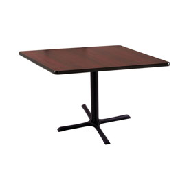 """30"""" 211 Black Table with 30"""" x 30"""" Foot and 36"""" x 36"""" Square Top by Holland Bar Stool"""