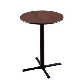 """42"""" Tall Bar Height 211 Table with a Black Wrinkle Finish, 30""""x30"""" X-Style Base and a Reversable (Black or Dark Cherry) Top"""