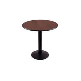 """30"""" 214 Black Table with 16"""" Diameter Foot and 24"""" Diameter Top by Holland Bar Stool"""