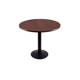 """30"""" 214 Black Table with 16"""" Diameter Foot and 30"""" Diameter Top by Holland Bar Stool"""