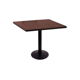 """30"""" 214 Black Table with 16"""" Diameter Foot and 30"""" x 30"""" Square Top by Holland Bar Stool"""