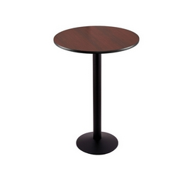 """36"""" Tall Counter Height 214 Table with a Black Wrinkle Finish, 16"""" Diameter Round Footed Base and a Reversable (Black or Dark Cherry) Top"""