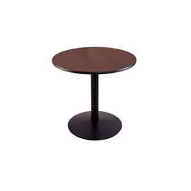"""30"""" 214 Black Table with 22"""" Diameter Foot and 24"""" Diameter Top by Holland Bar Stool"""