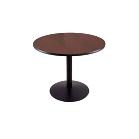 """30"""" 214 Black Table with 22"""" Diameter Foot and 30"""" Diameter Top by Holland Bar Stool"""
