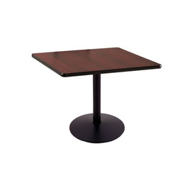 "30"" 214 Black Table with 22"" Diameter Foot and 30"" x 30"" Square Top by Holland Bar Stool"