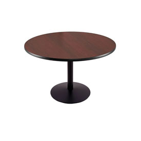 """30"""" 214 Black Table with 22"""" Diameter Foot and 36"""" Diameter Top by Holland Bar Stool"""