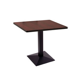 """30"""" 217 Black Table with 30"""" x 30"""" Square Top by Holland Bar Stool"""