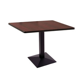 "30"" 217 Black Table with 36"" x 36"" Square Top by Holland Bar Stool"
