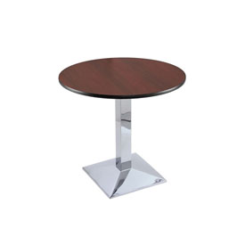 "30"" 217 Chrome Table with 30"" Diameter Top by Holland Bar Stool"