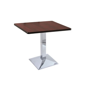 """30"""" 217 Chrome Table with 30"""" x 30"""" Square Top by Holland Bar Stool"""