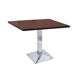 """30"""" 217 Chrome Table with 36"""" x 36"""" Square Top by Holland Bar Stool"""