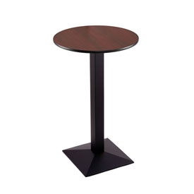 "36"" 217 Black Table with 24"" Diameter Top by Holland Bar Stool"
