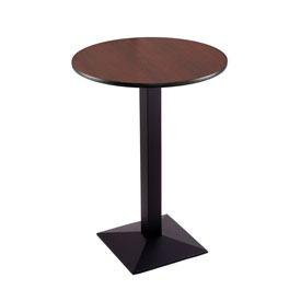 """36"""" 217 Black Table with 30"""" Diameter Top by Holland Bar Stool"""