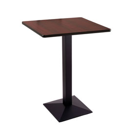 """36"""" 217 Black Table with 30"""" x 30"""" Square Top by Holland Bar Stool"""
