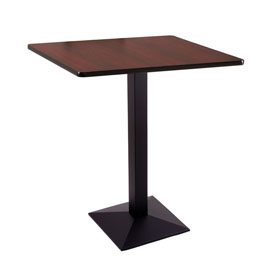 """36"""" 217 Black Table with 36"""" x 36"""" Square Top by Holland Bar Stool"""