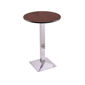 """42"""" 217 Chrome Table with 24"""" Diameter Top by Holland Bar Stool"""