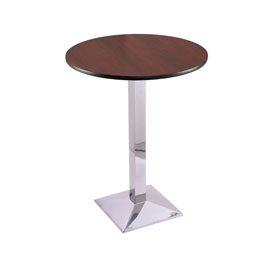 """42"""" 217 Chrome Table with 30"""" Diameter Top by Holland Bar Stool"""