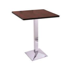 """42"""" 217 Chrome Table with 30"""" x 30"""" Square Top by Holland Bar Stool"""