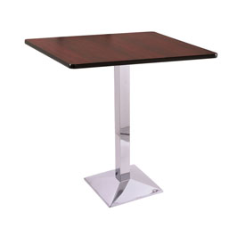 "42"" 217 Chrome Table with 36"" x 36"" Square Top by Holland Bar Stool"