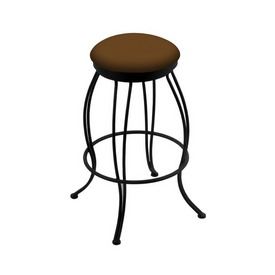 """3000 Georgian 30"""" Swivel Bar Stool with Black Wrinkle Finish and Canter Thatch Seat"""