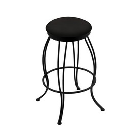 """3000 Georgian 30"""" Swivel Bar Stool with Black Wrinkle Finish and Canter Espresso Seat"""