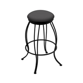 """3000 Georgian 30"""" Swivel Bar Stool with Black Wrinkle Finish and Canter Storm Seat"""