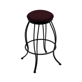 """3000 Georgian 30"""" Swivel Bar Stool with Black Wrinkle Finish and Canter Bordeaux Seat"""