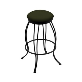 """3000 Georgian 30"""" Swivel Bar Stool with Black Wrinkle Finish and Canter Pine Seat"""
