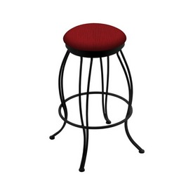"""3000 Georgian 30"""" Swivel Bar Stool with Black Wrinkle Finish and Graph Ruby Seat"""