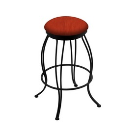 "3000 Georgian 30"" Swivel Bar Stool with Black Wrinkle Finish and Graph Poppy Seat"